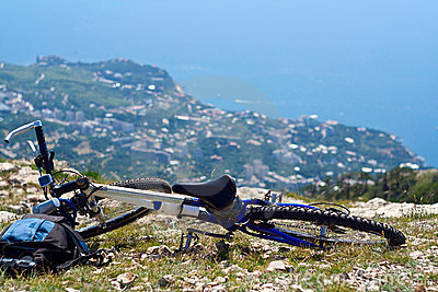 Bicycle at top of mountain