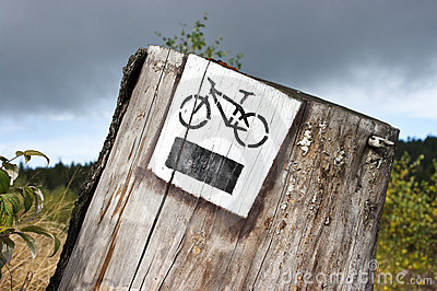 Bicycle tourist track