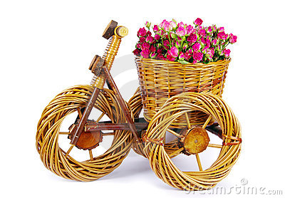 Bicycle vase with flowers