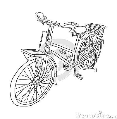 Bicycle Vector Sketch