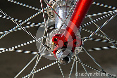 Bicycle wheel, detail