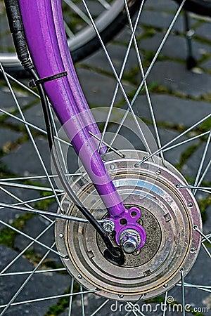 Bicycle wheel. Detail 12