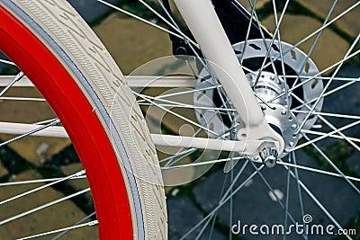 Bicycle wheel. Detail 6