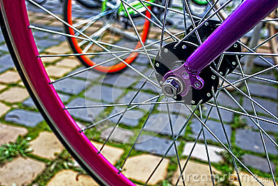 Bicycle wheel. Detail 9
