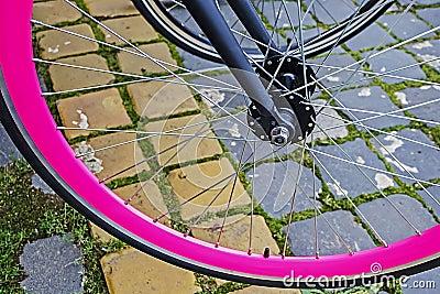 Bicycle wheel. Detail 8