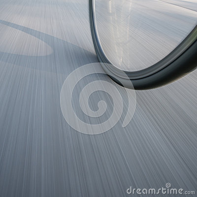 Free Bicycle Wheel On Street In Motion Stock Images - 45288334