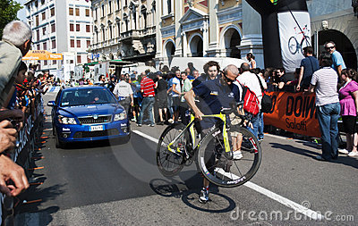 Bicycle of the winner Editorial Stock Photo
