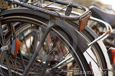 Bicycles along the Canals in A
