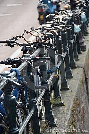 Bicycles in Amsterdam Editorial Image