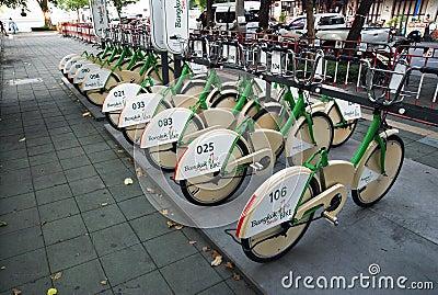 Bicycles in Bangkok Editorial Stock Image