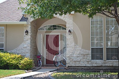 Bicycles at the front door