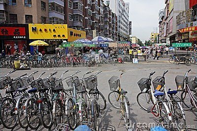 Bicycles, HoHot, northern China Editorial Photo