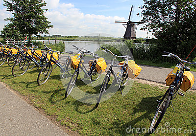 Bicycles in Holland Editorial Photography