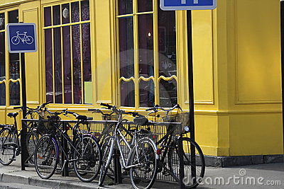 Bicycles in paris near the Canal St Martin