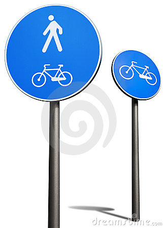 Bicycles and pedestrians road sign