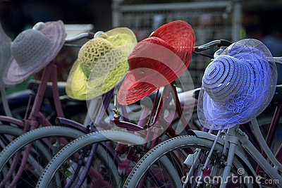 Bicycles for rent in Jakarta