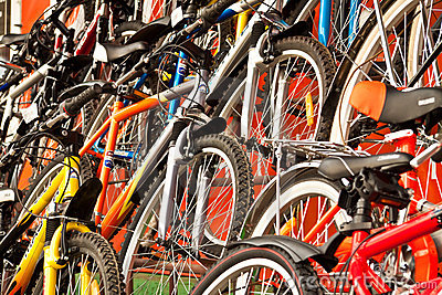 Bicycles for sale.