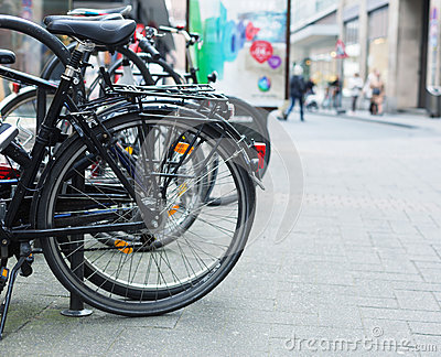 Bicycles on street