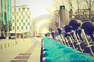 Bicycles On Streets Of Dublin, Ireland Free Public Domain Cc0 Image