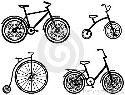 Bicycles – Vector illustrations