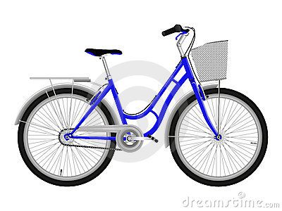 bicyclette bleue photographie stock image 14572852. Black Bedroom Furniture Sets. Home Design Ideas