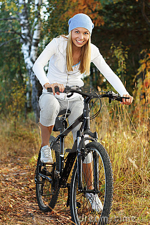 Free Bicycling In The Forest Royalty Free Stock Photography - 11026007