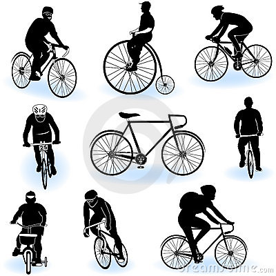 Bicycling silhouettes