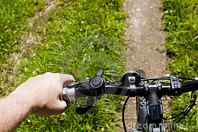 Bicycling on a trail