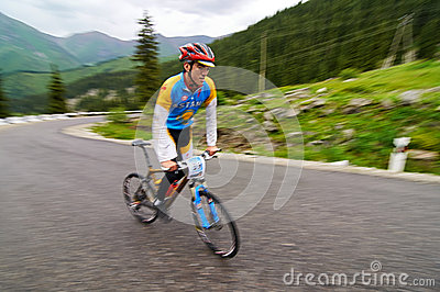 Bicycling uphill competition Editorial Photo