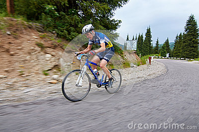 Bicycling uphill competition Editorial Photography
