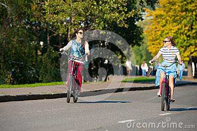 Bicyclists Editorial Stock Image