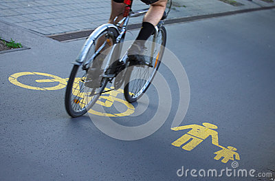 For Bicyclists And Pedestrians Royalty Free Stock Photo - Image: 24812835