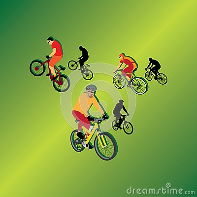 Bicyclists for your design