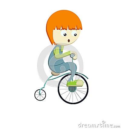 Bicyle d équitation de garçon