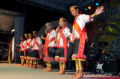 Bidayuh Cultural performance Editorial Stock Image
