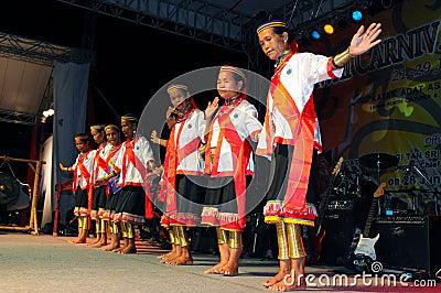 Bidayuh Cultural Dance Editorial Stock Image