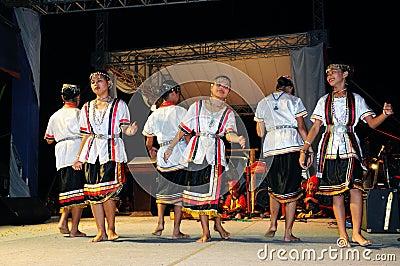 Bidayuh Girls Cultural Dance Editorial Photography