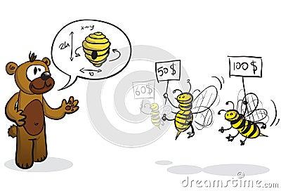 Bidder bees and buyer bear