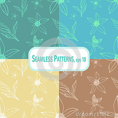 Bidens pattern set Vector Illustration
