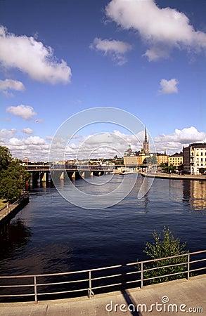 Bidge over Waterfront at Stockholm Sweden