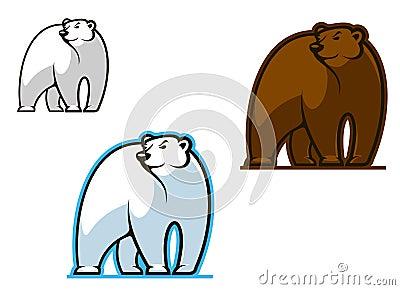 Biegunowy i brown niedźwiedź