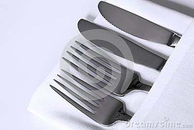 Bieliźniany cutlery biel