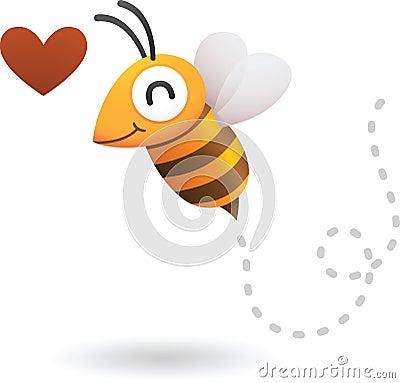 Biene in der Liebe