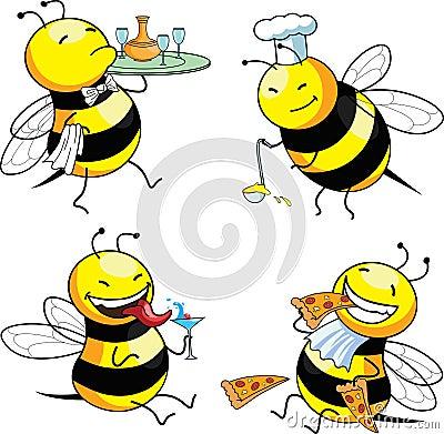 Biene mit vier Gefühlen