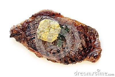 Bifteck avec Herb Butter