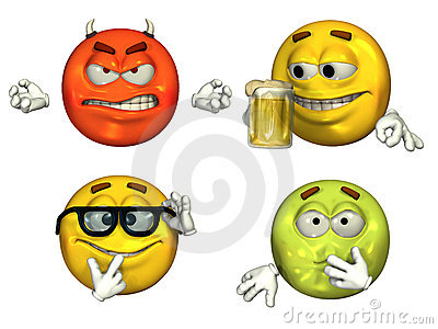 Big 3D Emoticons - set 3