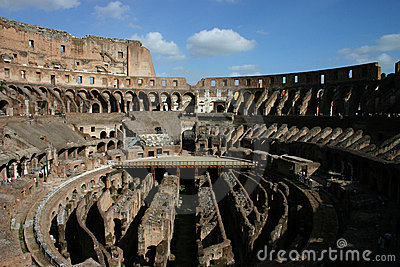 Big amphitheater in Rome