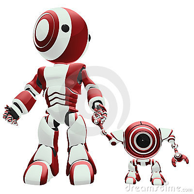Free Big And Small Robots Royalty Free Stock Photo - 6217205