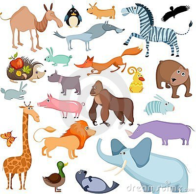 Free Big Animal Set Stock Photo - 12458480