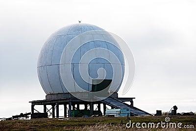 Big antenna white sphere
